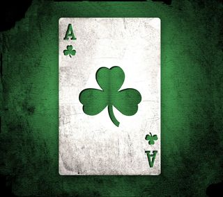Обои на телефон покер, карты, туз, трилистник, клевер, ace of clover