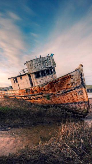 Обои на телефон лодки, винтаж, lost boat, a lost boat