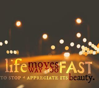 Обои на телефон стоп, красота, жизнь, life moves too fast, fast, appreciate