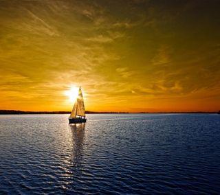 Обои на телефон лодки, море, закат, вода, sunset boat, sailboats