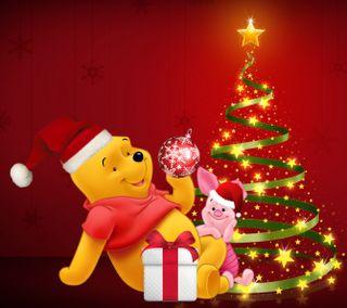 Обои на телефон счастливое, рождество, пух, дисней, 2160x1920px, disney