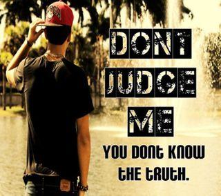 Обои на телефон dont judge me, цитата, поговорка, жизнь, мальчик, я, не, правда, судить