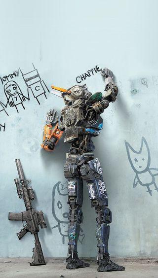 Обои на телефон робот, арт, art