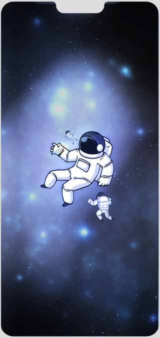 Обои на телефон выемка, хуавей, телефон, синие, милые, космос, космонавт, p20, oneplus6, huawei p20-oneplus6, huawei, dty