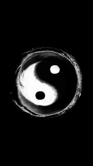 Обои на телефон balance of forces, chinese philosophy, s7, s8, черные, белые, китайские