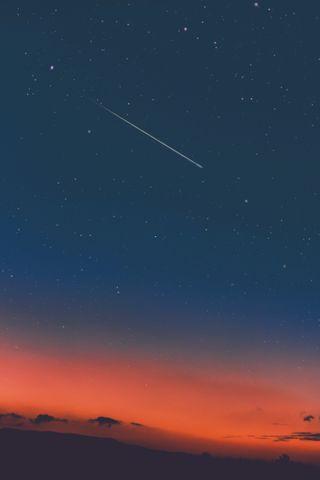 Обои на телефон bonito, ceu azul, estrela cadente, estrelas, синие, прекрасные, небо, звезды, небеса