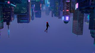 Обои на телефон вечер, паук, марвел, комиксы, город, абстрактные, spider-verse, marvel, into the spider-verse, hd