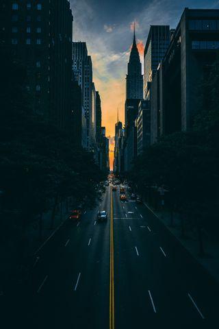 Обои на телефон улица, стена, город, темные, природа, city dark wall