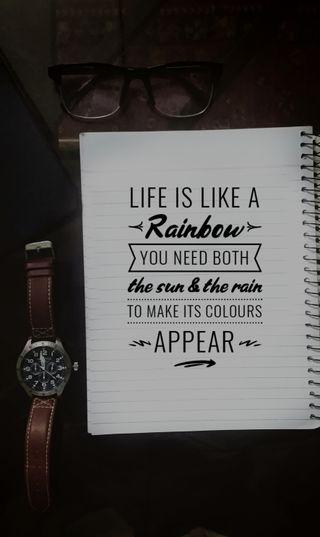 Обои на телефон очки, часы, цитата, радуга, люди, жизнь, вдохновляющие