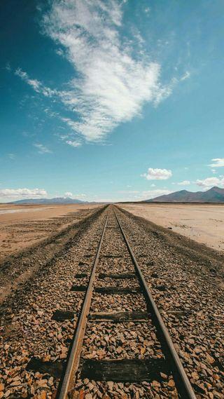 Обои на телефон изображения, черные, поезда, небо, железная дорога, белые, del