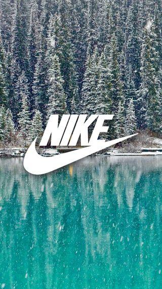 Обои на телефон nike, nike winter, природа, синие, логотипы, белые, пейзаж, зима, снег, найк, бренды, холод