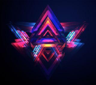 Обои на телефон формы, треугольник, абстрактные, prism, 3д, 3d