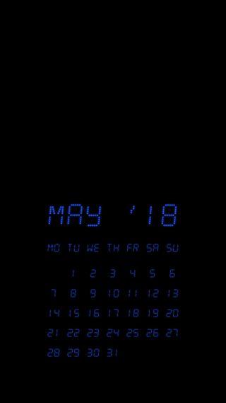 Обои на телефон календари, zedgemaycal18, may, lcd may