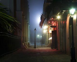 Обои на телефон фонарь, улица, туман, огни, город, азиатские, asian city lights