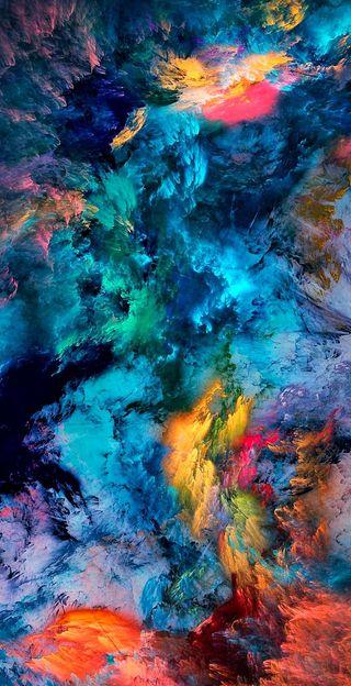 Обои на телефон яркие, цветные, радуга, небо, космос, векторные, брызги, splat, hd, colorsplash