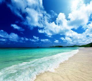 Обои на телефон берег, тропические, рай, пляж, океан, море, изумруд, emerald ocean