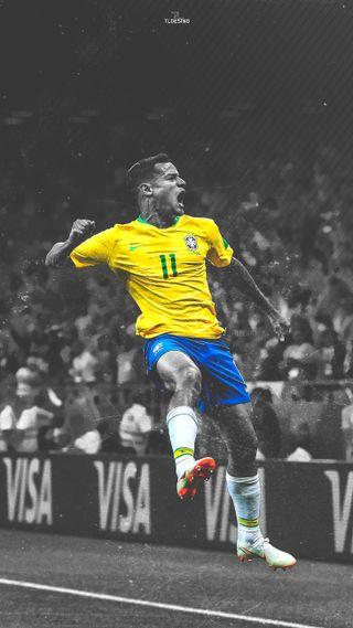 Обои на телефон balon, coutiho, coutinho, thebest, uefa, барселона, футбол, бразилия, чемпионы, мундиаль