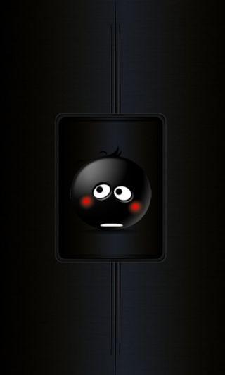 Обои на телефон черные, смайлик, логотипы, абстрактные
