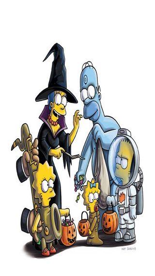 Обои на телефон симпсоны, лиса, анимация, хэллоуин, мультфильмы