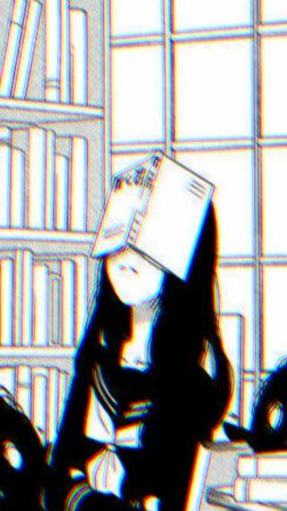 Обои на телефон сбой, эстетические, книга, девушки, tumblr