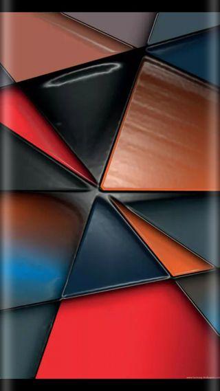 Обои на телефон треугольники, супер, стиль, оранжевые, красочные, дизайн, грани, абстрактные, s7, edge style
