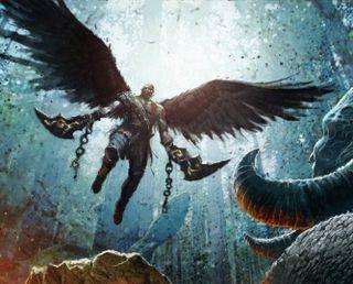 Обои на телефон крылья, война, воин, бог, spartan, god of war 4, god of war