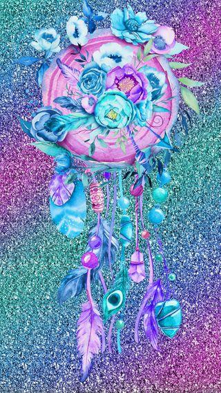 Обои на телефон рисунки, цветы, цветные, радуга, ловец снов, дизайн, блестящие, абстрактные