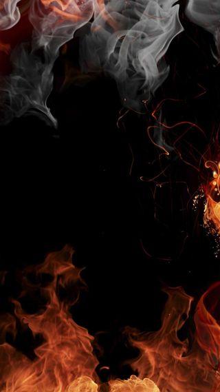 Обои на телефон фоны, пламя, огонь, дым