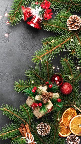 Обои на телефон христос, фрукты, украшение, счастливые, рождество, новый, каникулы, дерево, год, happy