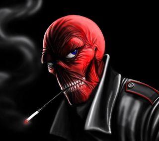 Обои на телефон голова, череп, фон, темные, красые, red skull