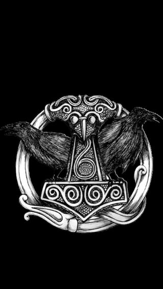 Обои на телефон викинги, тор, молот, wikinger, thors hammer 3, odin
