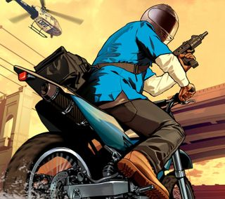 Обои на телефон гта, развлечения, оружие, новый, мотоциклы, крутые, игра, байк, man