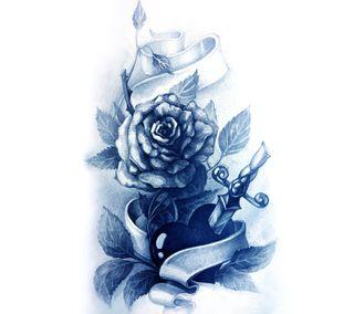 Обои на телефон панк, чернила, хипстер, татуировки, тату, розы, крутые, дизайн, арт, zedgetat1, rose tattoo, art