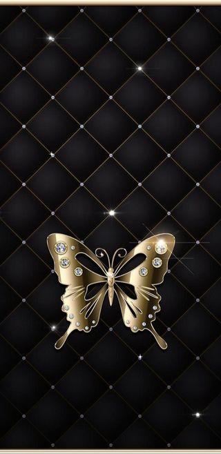 Обои на телефон элегантные, симпатичные, сверкающие, прекрасные, золотые, девчачие, бабочки