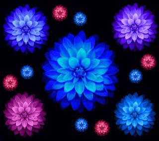Обои на телефон лотус, эпл, цветы, фиолетовые, синие, розовые, абстрактные, ios lotus flowers s5, ios, apple
