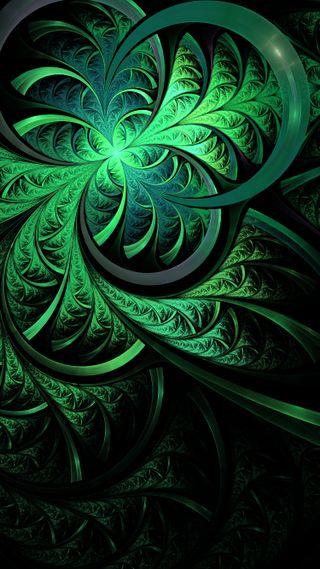 Обои на телефон фрактал, ночь, лето, зеленые, абстрактные, summer night