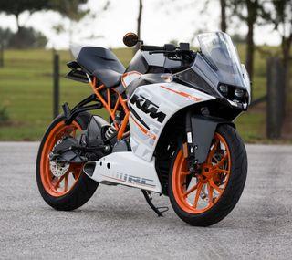 Обои на телефон мотоциклы, черные, оранжевые, мотоцикл, ктм, белые, austria
