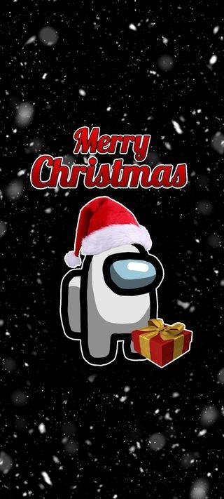 Обои на телефон счастливое, рождество, подарок, новый, амонг, among us christmas