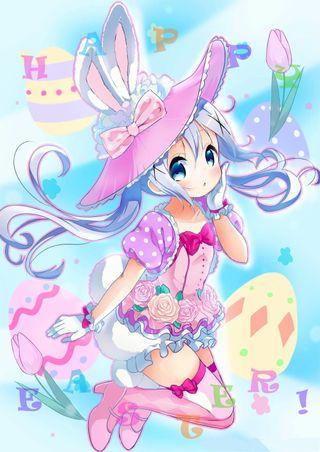 Обои на телефон кролик, счастливые, пасхальные, аниме, happy