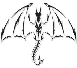 Обои на телефон племенные, дракон, dragon