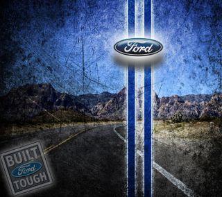 Обои на телефон грузовик, форд, синие, машины, дорога, гонка, внедорожник, ford tough, ford