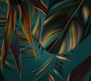 Обои на телефон хуавей, стандартные, стена, осень, матовые, листья, золотые, зеленые, huawei mate 10