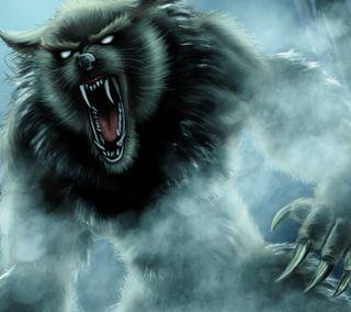 Обои на телефон фантазия, волк