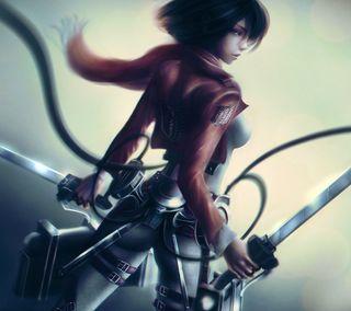 Обои на телефон меч, девушки, воин, аниме
