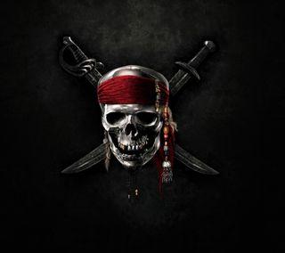 Обои на телефон пираты, череп, опасные, крутые, красые, дизайн