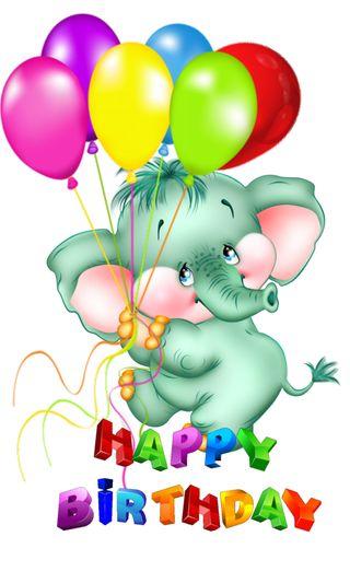Обои на телефон слон, шары, счастливые, мультфильмы