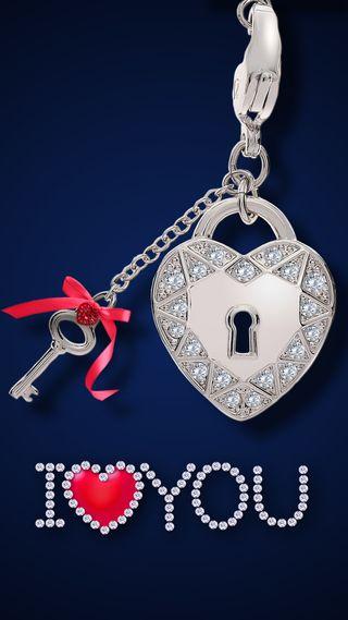 Обои на телефон love, i love you, любовь, сердце, ты, серебряные, романтика, блокировка, бриллианты, ключ, гламурные