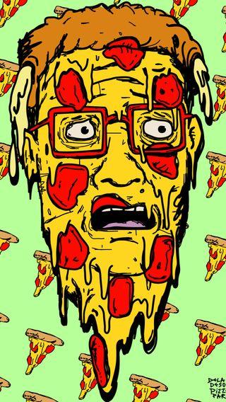 Обои на телефон холм, пицца, мультфильмы, король, pizza hank deladeso, king of the hill, hank hill, deladeso
