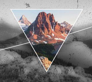 Обои на телефон квадратные, черные, цветные, небо, красые, классные, горы, белые, mountain square
