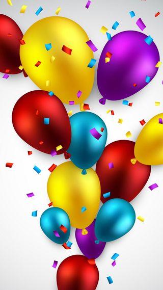 Обои на телефон празднование, шары, цветные, украшение, красочные, абстрактные